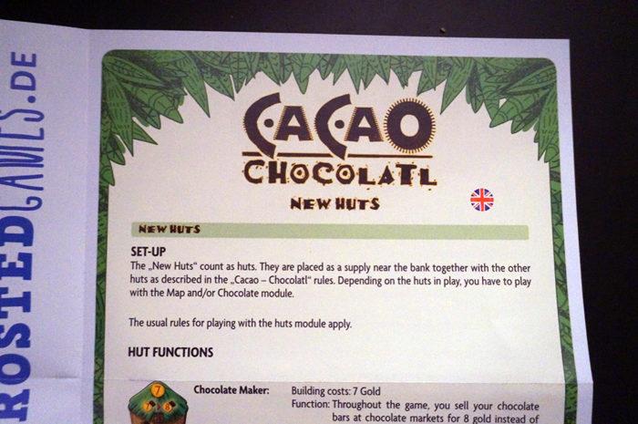 Cacao Chocolatl : règle