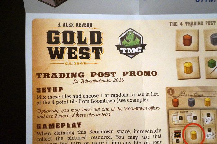 Gold West : règle