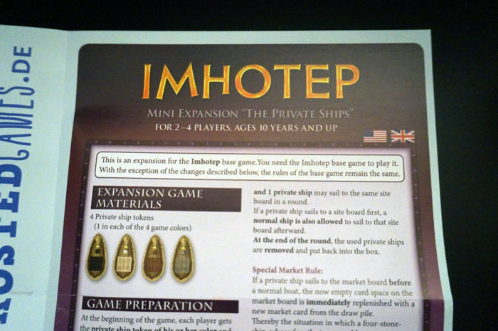 Imhotep : règle